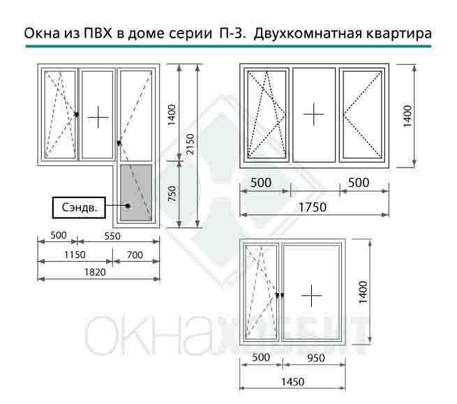 Пластиковые окна для домов серии п-3 - стоимость окон в т....